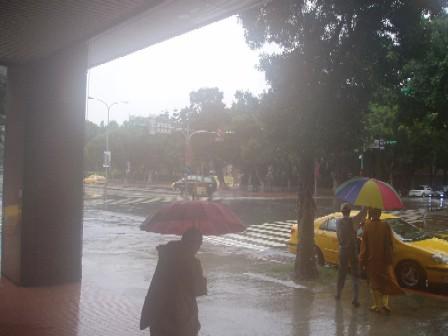 雨が渦巻いています・・